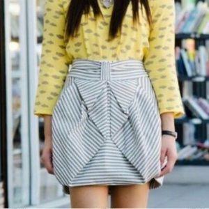 Anthropologie Eva Franco Striped Bubble Skirt 4P